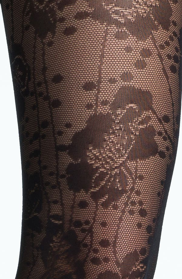 Alternate Image 2  - kate spade new york spotted floral lace tights