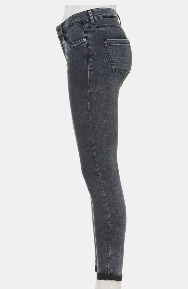 Alternate Image 4  - Topshop Moto 'Leigh' Acid Wash Skinny Jeans (Petite)