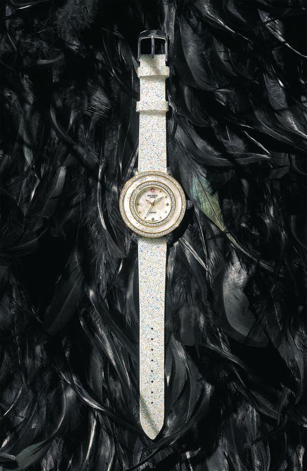 Alternate Image 1 Selected - MICHELE 'Cloette Diamond' Two Tone Customizable Watch