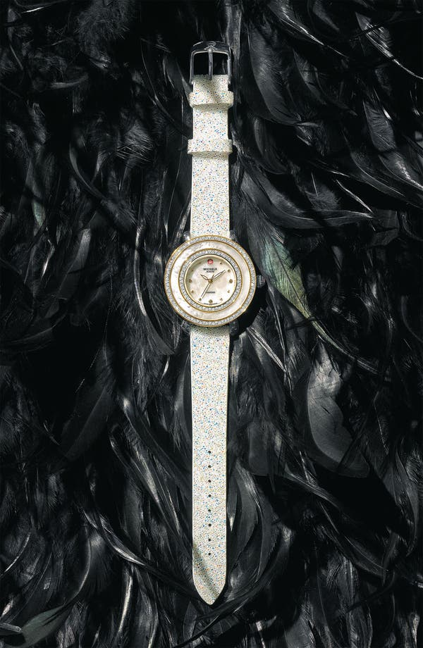 Main Image - MICHELE 'Cloette Diamond' Two Tone Customizable Watch