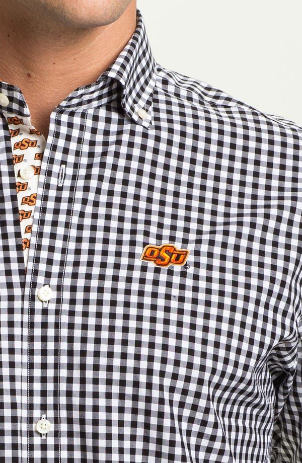 Alternate Image 3  - Thomas Dean 'Oklahoma State' Regular Fit Gingham Sport Shirt