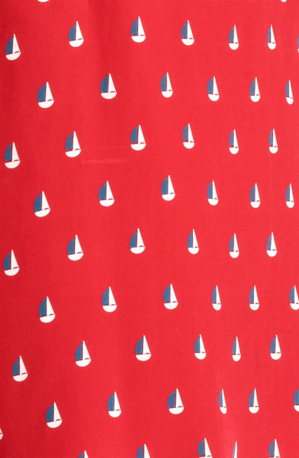 Alternate Image 3  - Band of Outsiders Sailboat Print Crêpe de Chine Dress