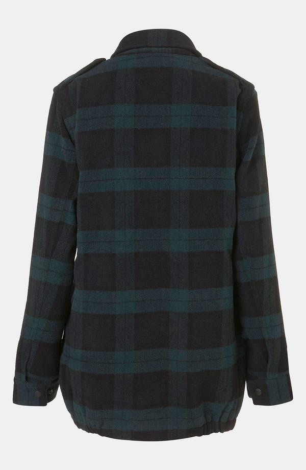 Alternate Image 2  - Topshop Plaid Utility Jacket
