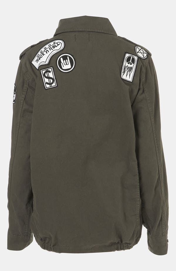 Alternate Image 2  - Topshop Patch Army Jacket