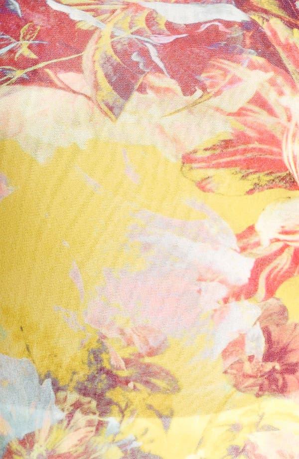 Alternate Image 3  - Jean Paul Gaultier Fuzzi Flower Print Tulle Tank