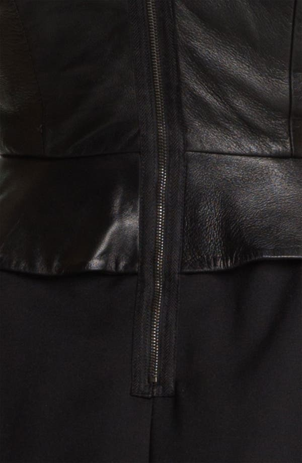 Alternate Image 2  - Tracy Reese Leather Peplum Dress