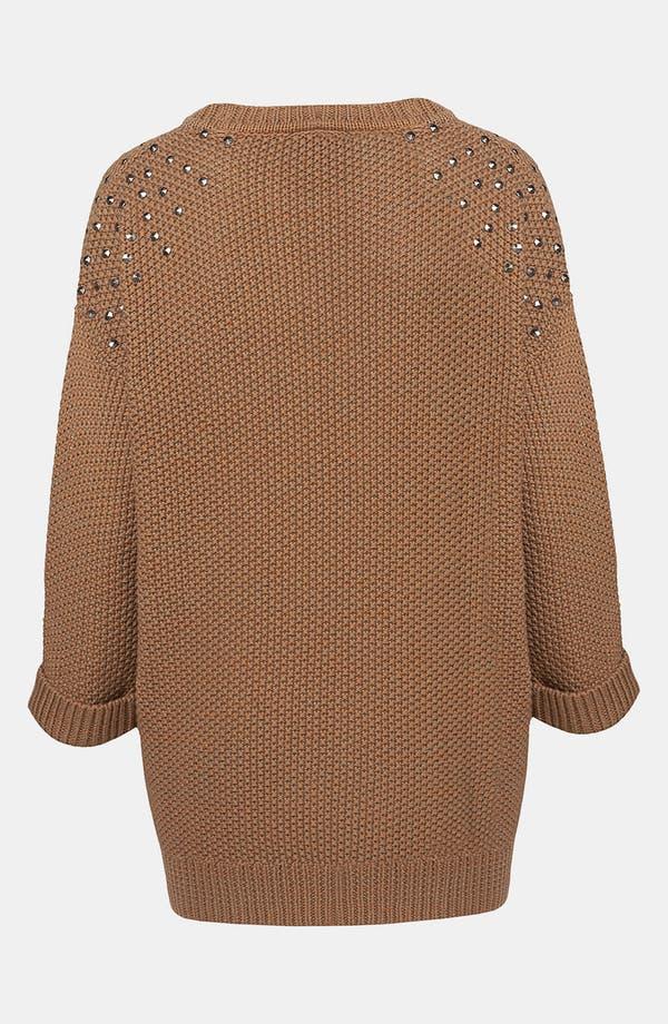 Alternate Image 2  - Topshop Studded Shoulder Tunic Sweater