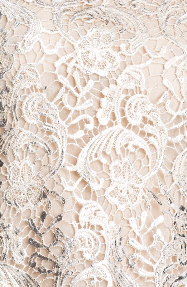 Alternate Image 3  - GREYLIN Lace Metallic Brushed Lace Top