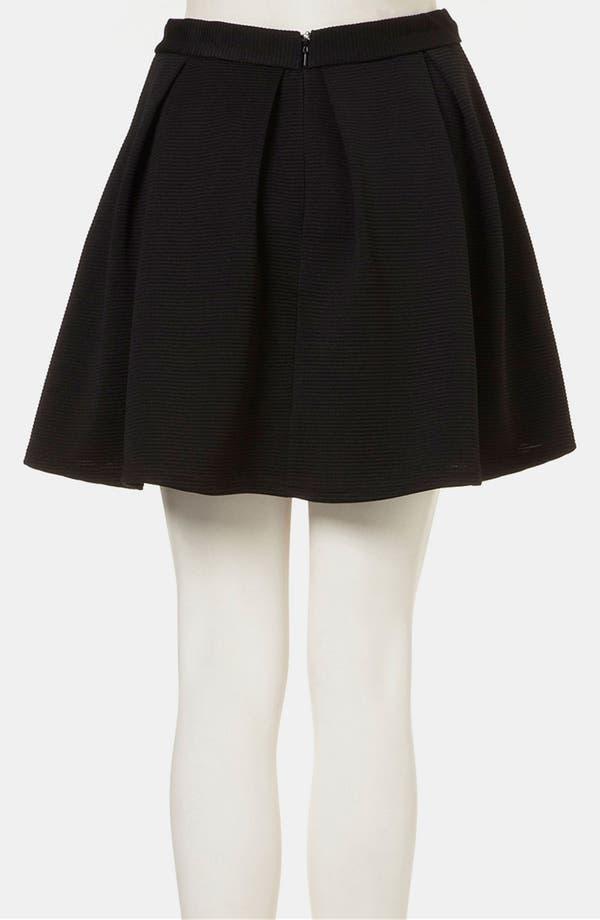 Alternate Image 2  - Topshop Pleated Ribbed Skater Skirt