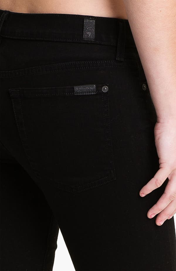 Alternate Image 3  - 7 For All Mankind® 'The Skinny' Stretch Jeans (Clean Black)