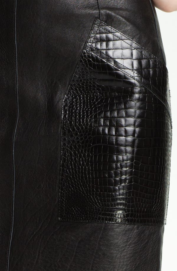 Alternate Image 3  - Alexander Wang Patch Pocket Leather Skirt
