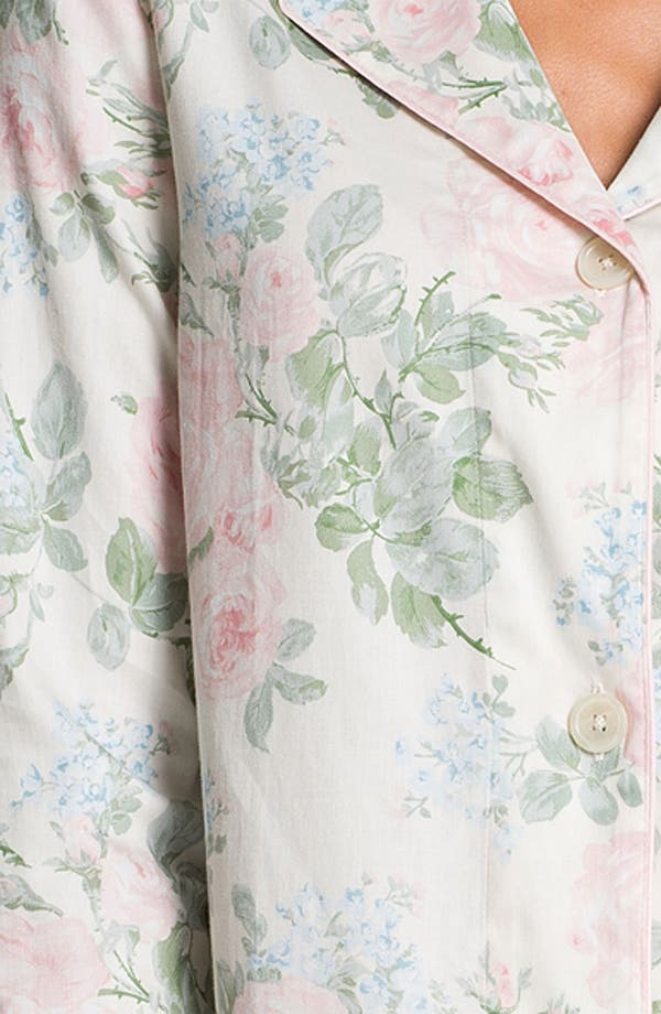 Alternate Image 3  - Lauren Ralph Lauren Sleepwear Floral Print Sleep Shirt