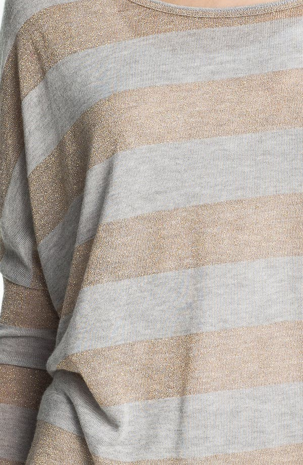 Alternate Image 3  - Two by Vince Camuto Metallic Stripe Sweater