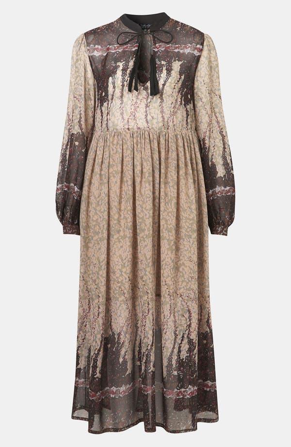 Alternate Image 1 Selected - Topshop 'Black Meadow' Print Midi Dress
