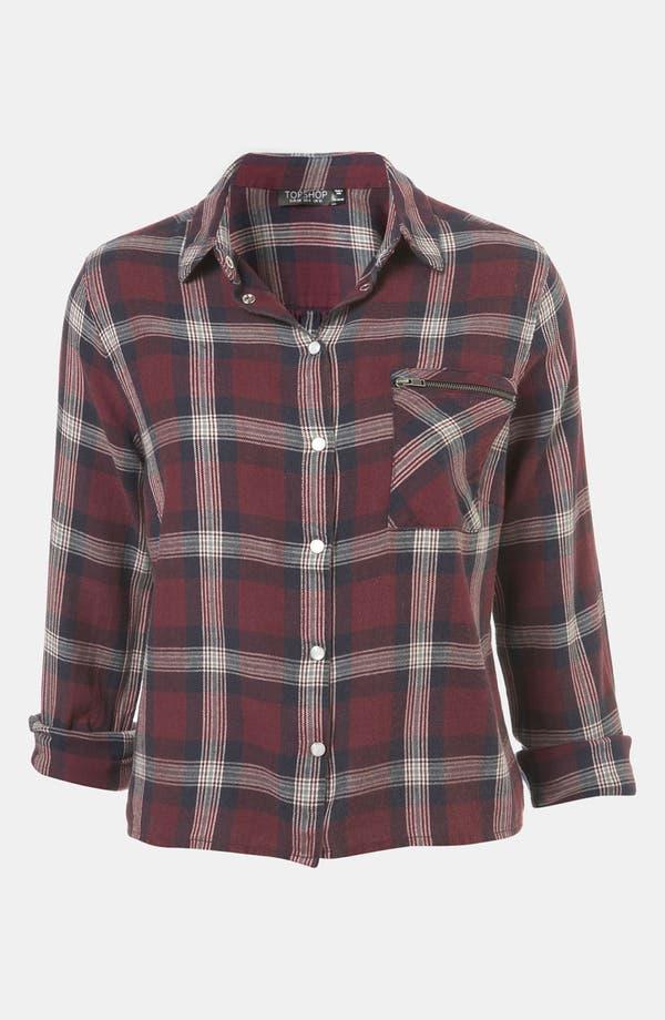 Alternate Image 1 Selected - Topshop 'Charleston' Plaid Shirt