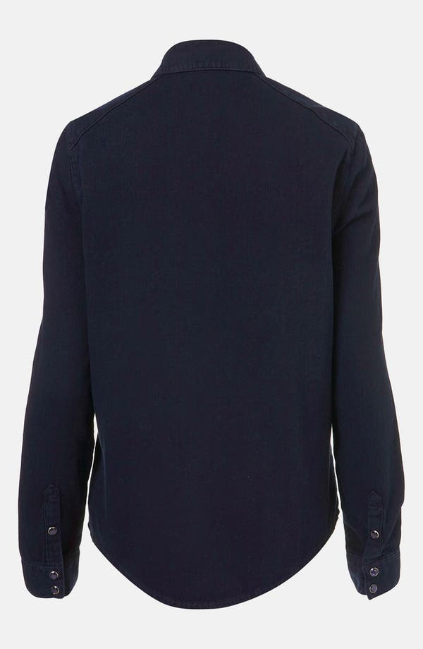 Alternate Image 2  - Topshop Moto Studded Western Denim Shirt