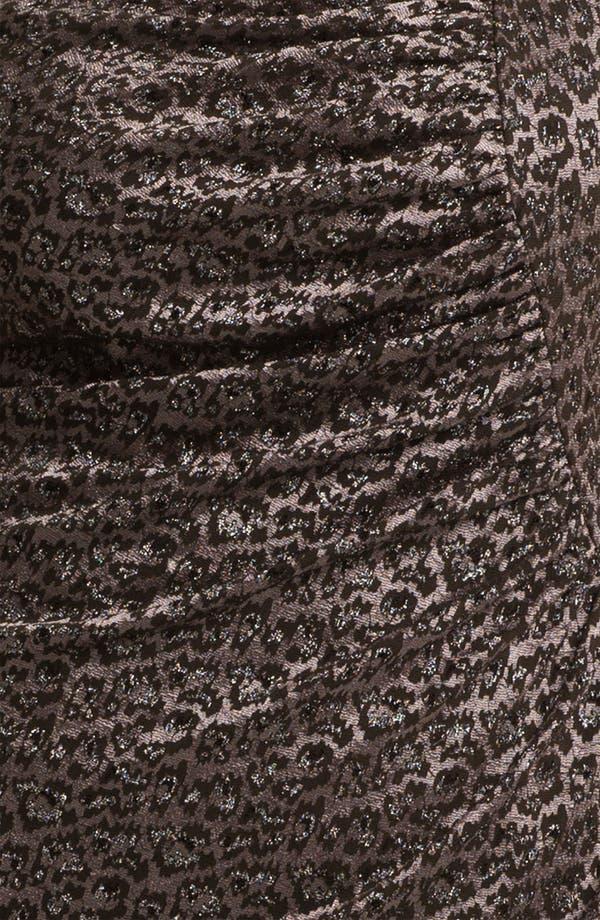 Alternate Image 3  - Adrianna Papell Side Ruched Metallic Sheath Dress (Plus)