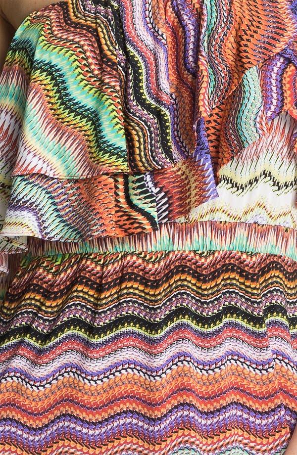 Alternate Image 3  - Tbags Los Angeles Ruffle Bodice Print Maxi Dress
