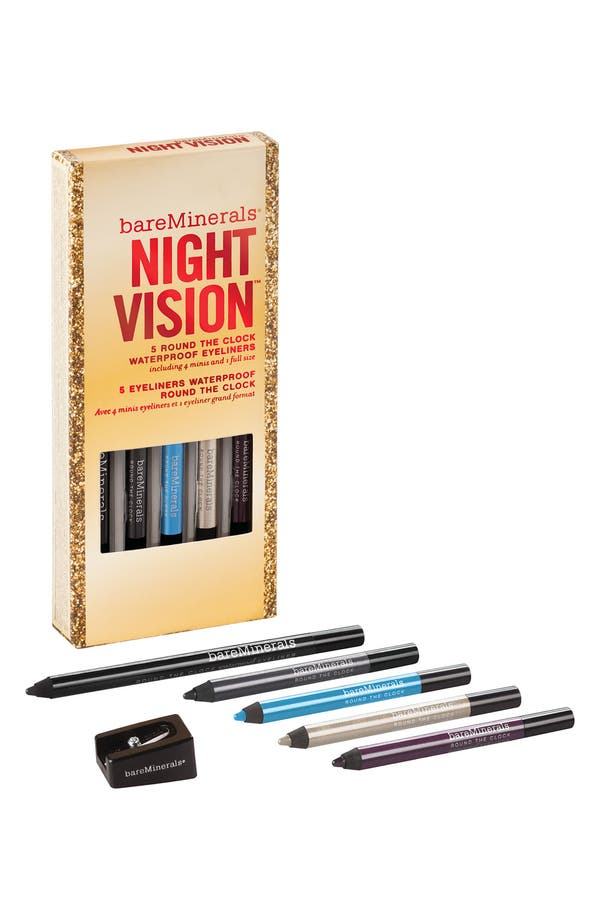 Alternate Image 1 Selected - bareMinerals® 'Round the Clock™ - The Night Vision' Waterproof Eyeliner Set ($45 Value)