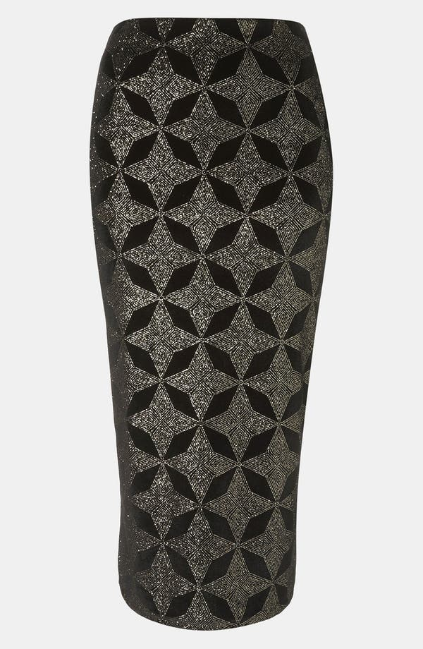 Alternate Image 1 Selected - Topshop Glitter Print Tube Skirt