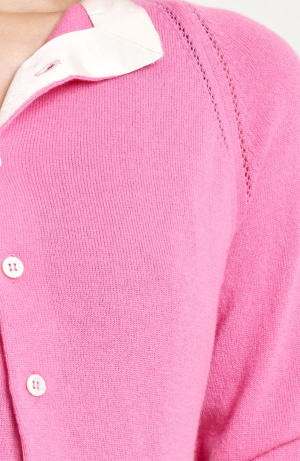 Alternate Image 3  - Nina Ricci Contrast Lapel Crop Cashmere Cardigan
