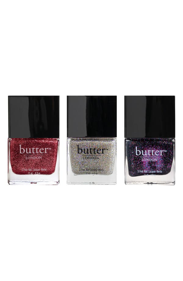 Alternate Image 1 Selected - butter™ LONDON Glitter Lacquer Trio ($42 Value)