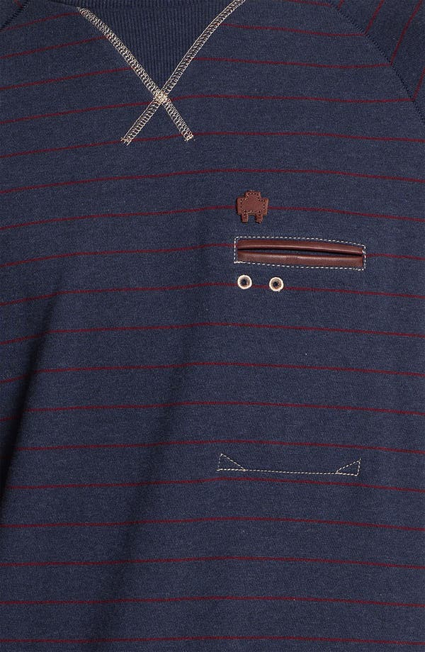 Alternate Image 3  - Marshall Artist Stripe Crewneck Sweatshirt