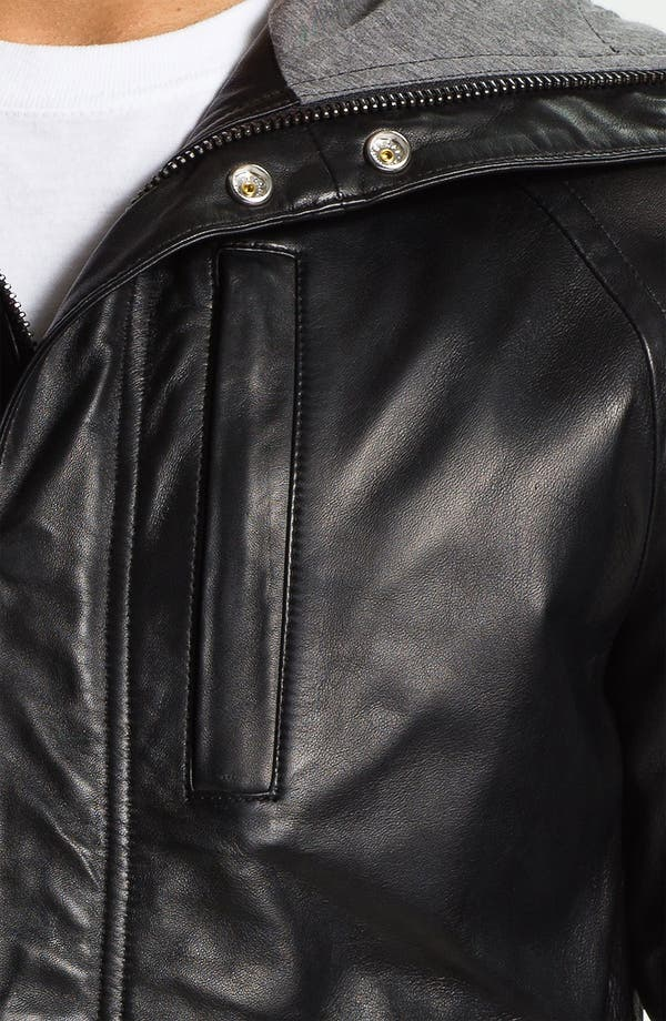 Alternate Image 3  - MARC BY MARC JACOBS Hooded Leather Jacket