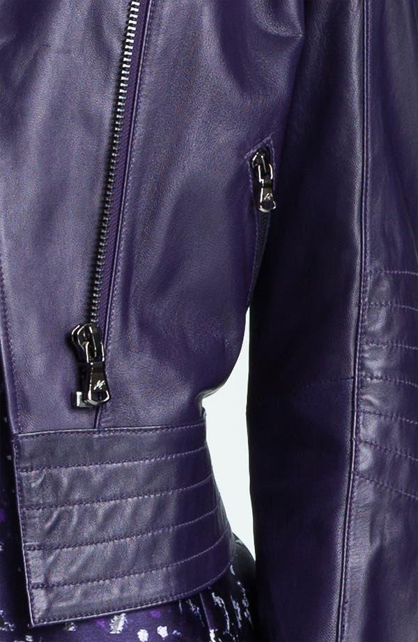 Alternate Image 3  - Kenneth Cole New York 'Maria' Metallic Leather Jacket