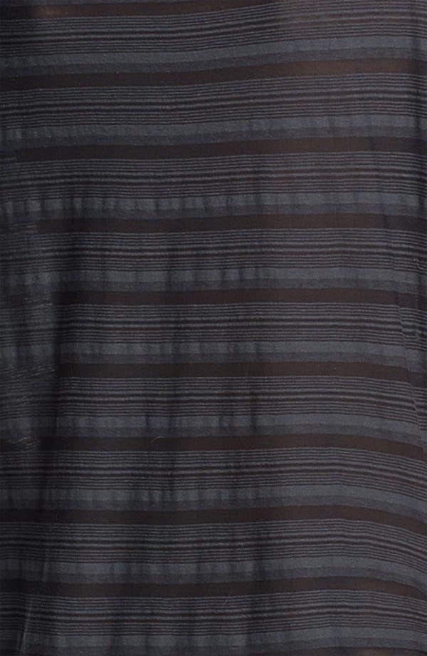 Alternate Image 3  - James Perse Sheer Stripe Ruched Tunic Dress