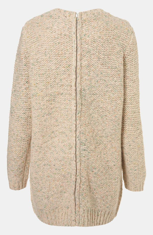 Alternate Image 2  - Topshop Zip Back Sweater