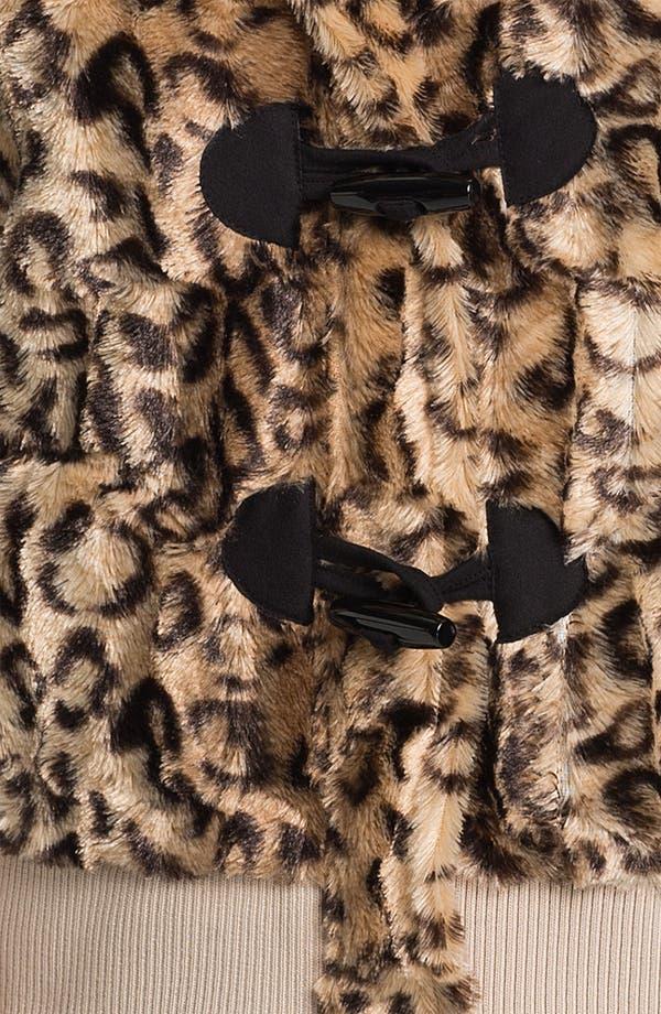 Alternate Image 3  - PJ Luxe Faux Leopard Fur Vest