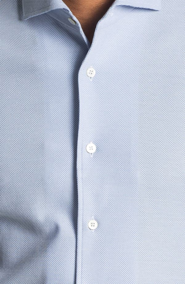 Alternate Image 3  - Canali Regular Fit Knit Italian Sport Shirt
