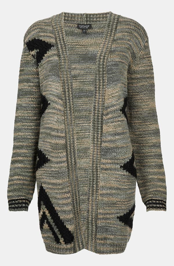 Alternate Image 1 Selected - Topshop Triangle Graphic Cardigan