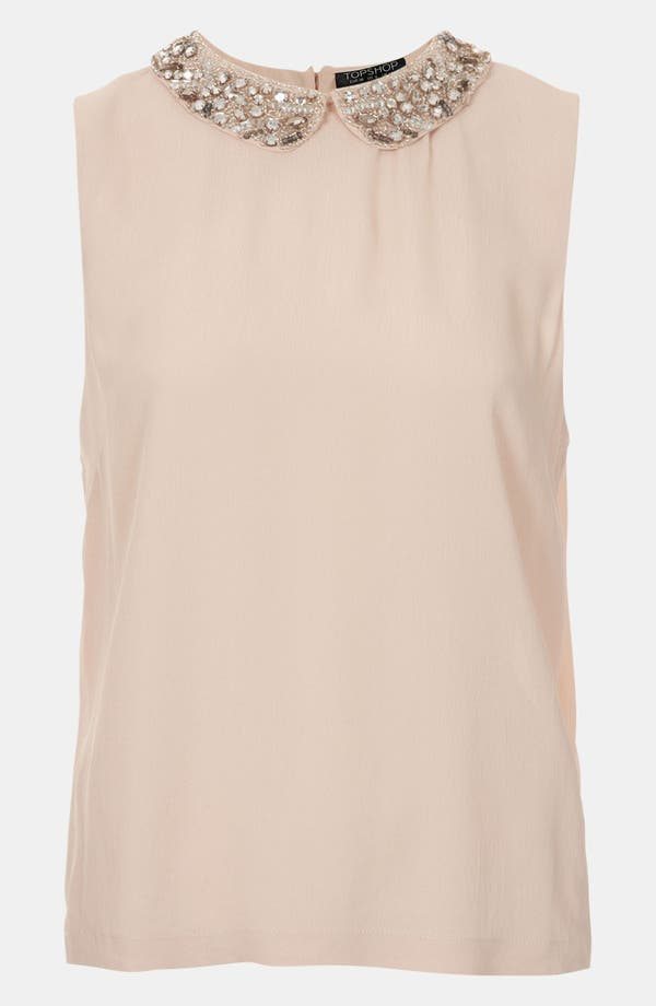 Main Image - Topshop Embellished Collar Top