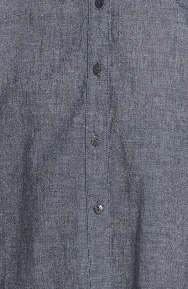 Alternate Image 3  - Eileen Fisher Roll Sleeve Chambray Shirt (Plus Size)