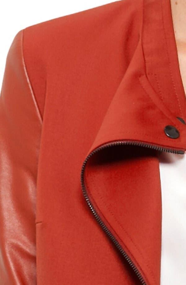 Alternate Image 3  - Akris punto Leather Sleeve Gabardine Jacket