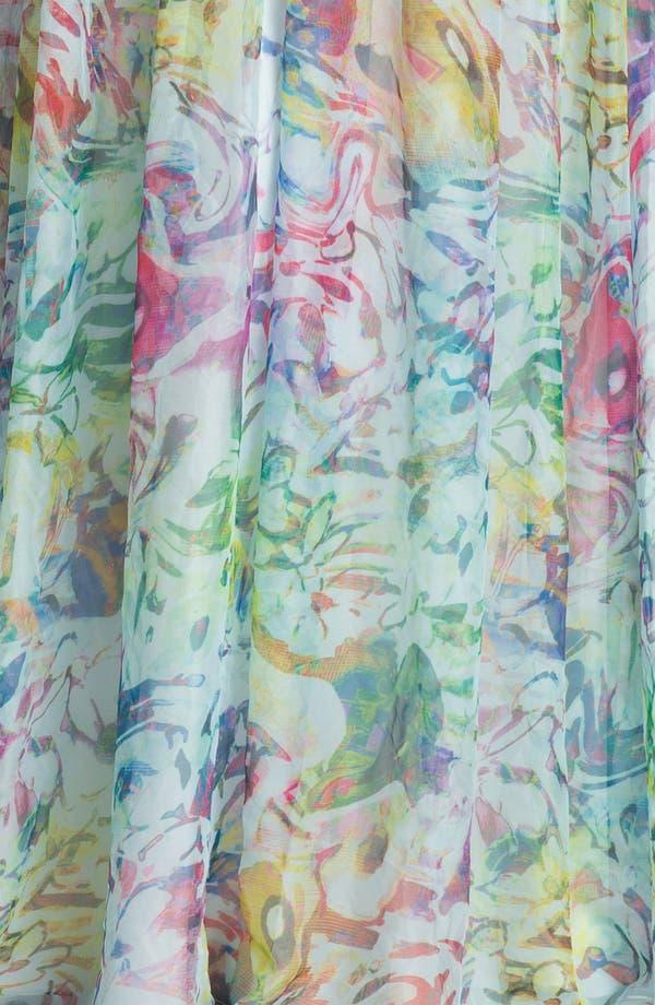 Alternate Image 3  - La Femme Print Strapless Maxi Dress