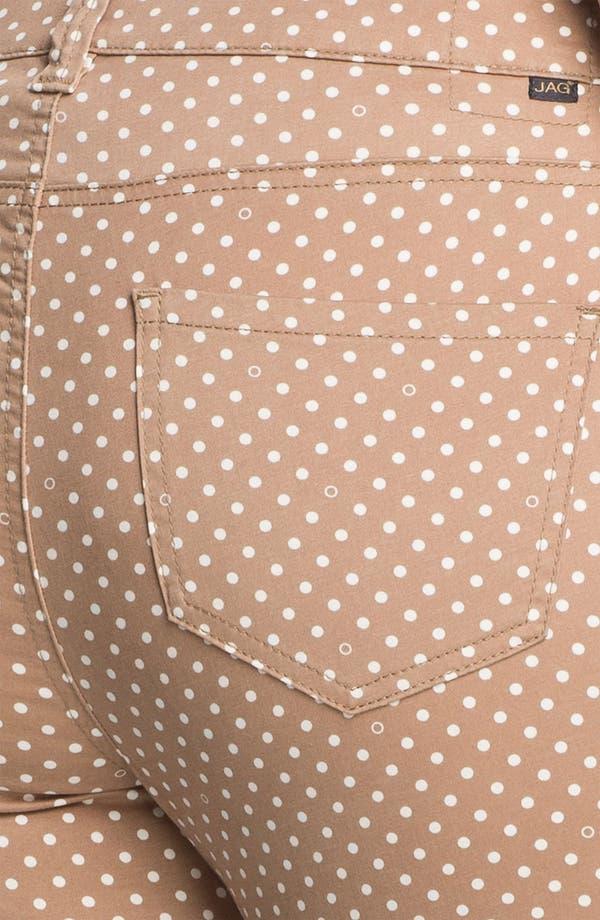 Alternate Image 3  - Jag Jeans Polka Dot Slim Ankle Jeans (Plus Size)