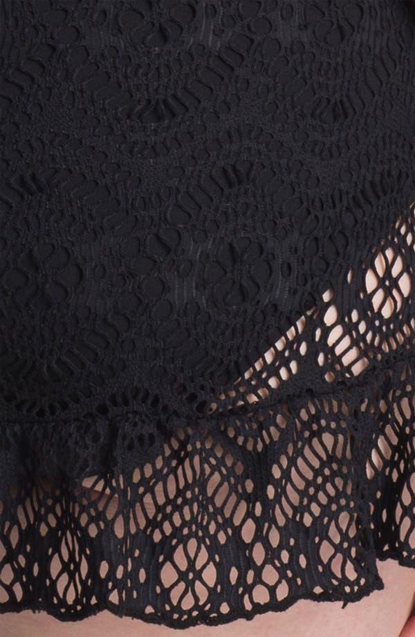Alternate Image 3  - Becca Etc. 'Marbella' Crochet Swimdress (Plus Size)