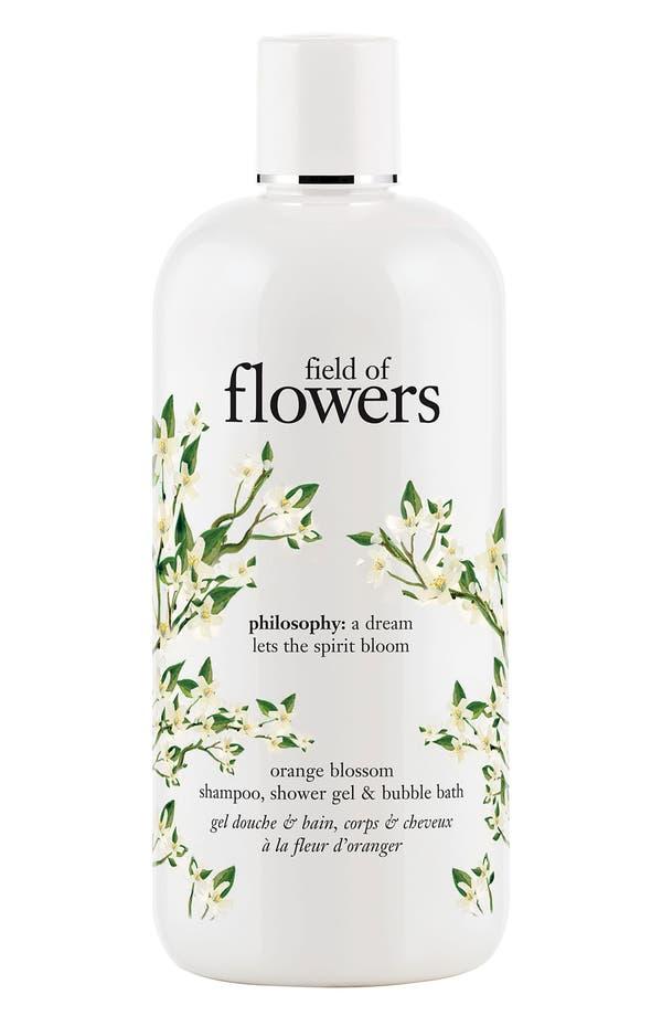 Main Image - philosophy 'field of flowers - orange blossom' shampoo, shower gel & bubble bath