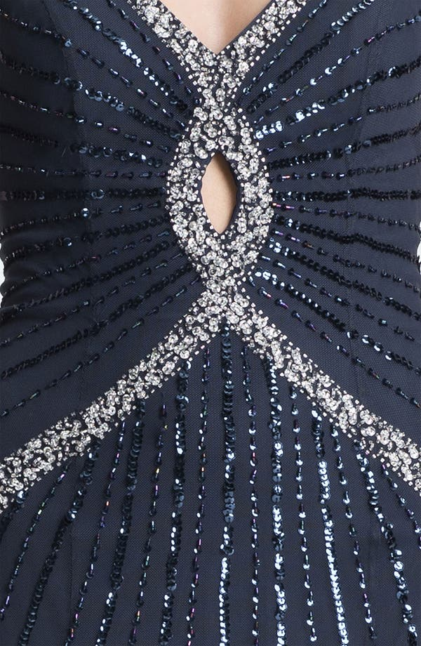 Alternate Image 3  - Sean Collection Embellished Mesh Gown (Online Only)