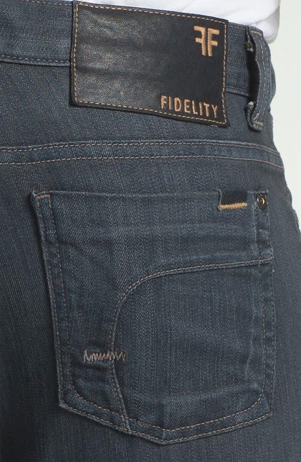 Alternate Image 4  - Fidelity Denim '5011' Straight Leg Jeans (Diego Steel)