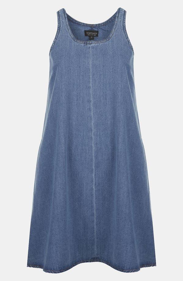 Alternate Image 1 Selected - Topshop Moto Denim Trapeze Dress