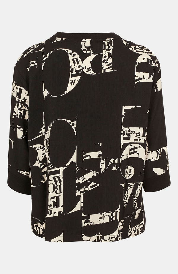 Alternate Image 2  - Topshop 'ABC' Print Top