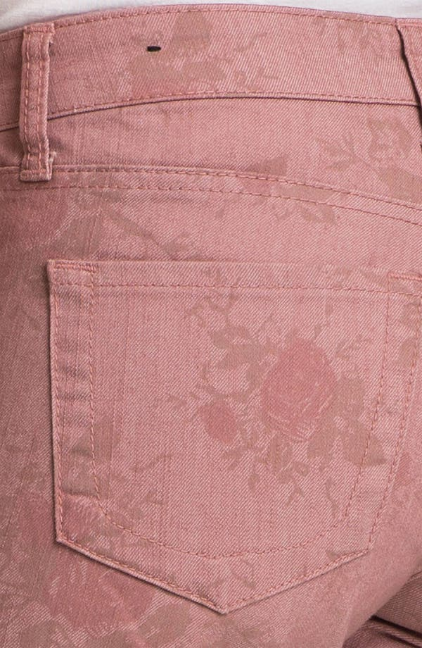 Alternate Image 3  - KUT from the Kloth 'Diana' Print Skinny Jeans (Rose)