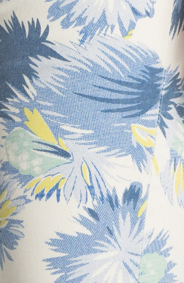 Alternate Image 3  - Vigoss 'Thompson' Print Crop Skinny Jeans (Juniors)