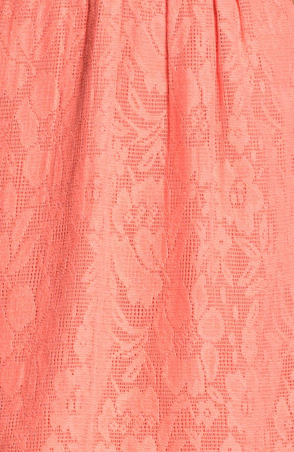 Alternate Image 3  - Frenchi Cutout Back Lace Dress (Juniors)
