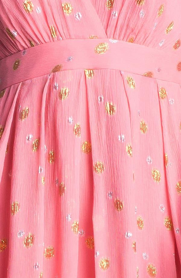 Alternate Image 3  - Nicole Miller 'Mara' Metallic Crinkled Fit & flare Dress