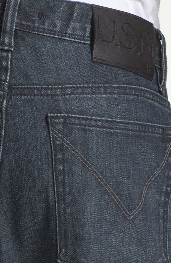 Alternate Image 4  - John Varvatos Star USA 'Authentic' Straight Leg Jeans (Storm Wash)